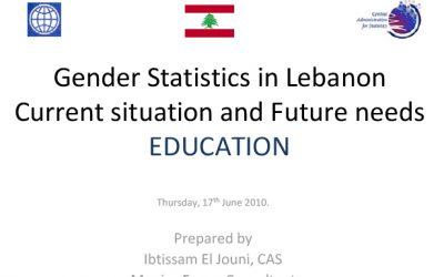 Use of Gender Statistics – Education