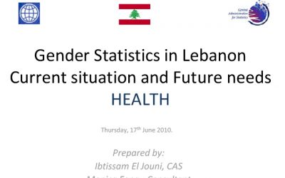 Use of Gender Statistics – Health