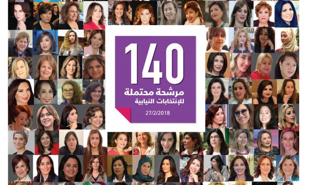 لائحة ال 140 إسم للمرشحات المحتملات للإنتخابات النيابية