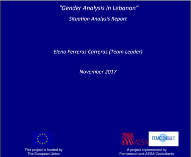 Gender Analysis in Lebanon